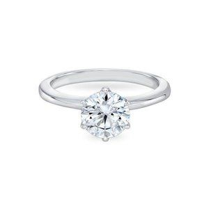 White gold 14k 1.25 carat prong set CVD diamond En